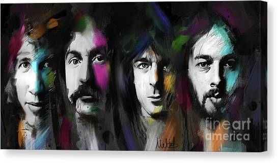 Pink Floyd Canvas Print - Any Colour You Like by Melanie D