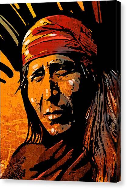 Apache Warrior Canvas Print