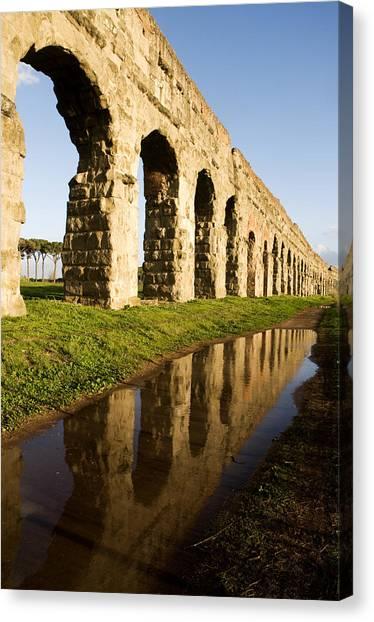Aqua Claudia Aqueduct Canvas Print