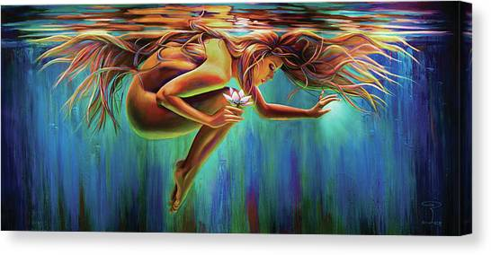 Rebirth Canvas Print - Aquarian Rebirth by Robyn Chance