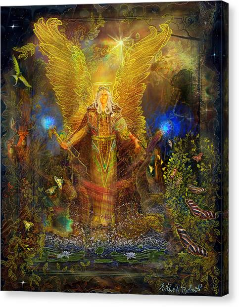 Archangel Michael-angel Tarot Card Canvas Print