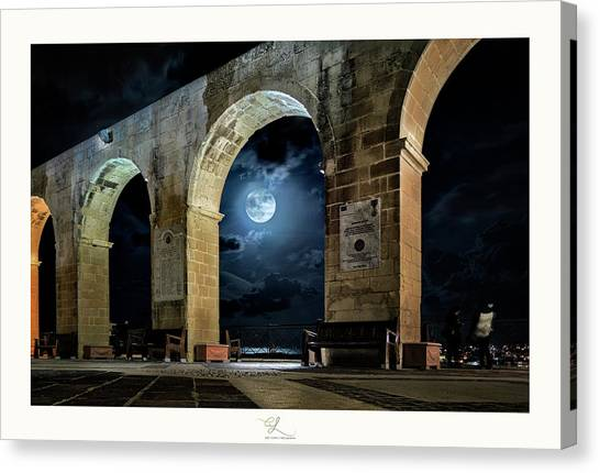 Arched Moon Canvas Print