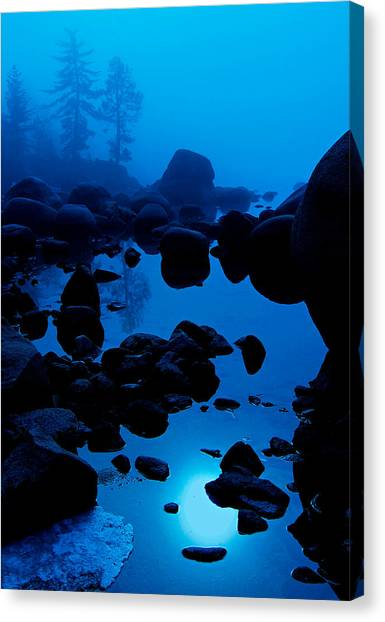 Canvas Print featuring the photograph Arise From The Fog by Sean Sarsfield