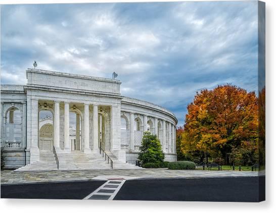D.c. United Canvas Print - Arlington Memorial Amphitheater by Susan Candelario