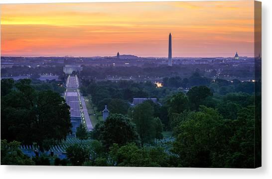 Arlington Sunrise Canvas Print by Michael Donahue
