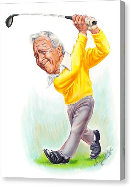 Golf Canvas Print - Arnie by Harry West