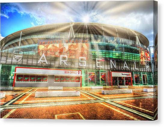 Arsenal Fc Canvas Print - Arsenal Football Club Emirates Stadium  by David Pyatt