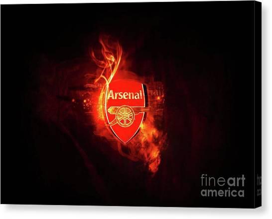 Arsenal Fc Canvas Print - Arsenal by Lundi Usop