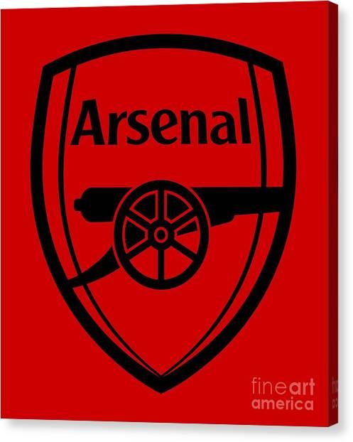 Arsenal Fc Canvas Print - Arsenal by Sidik Wahid