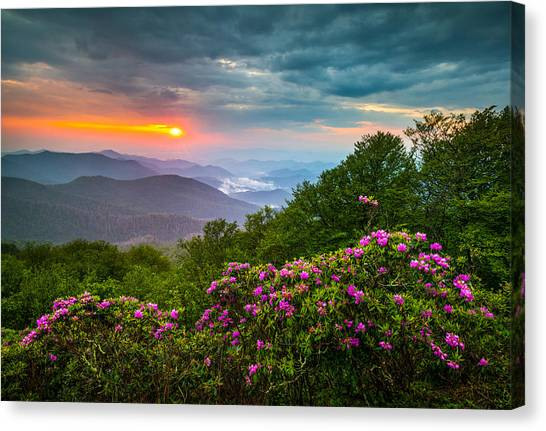 Blue Ridge Parkway Canvas Print - Asheville North Carolina Blue Ridge Parkway Scenic Landscape by Dave Allen
