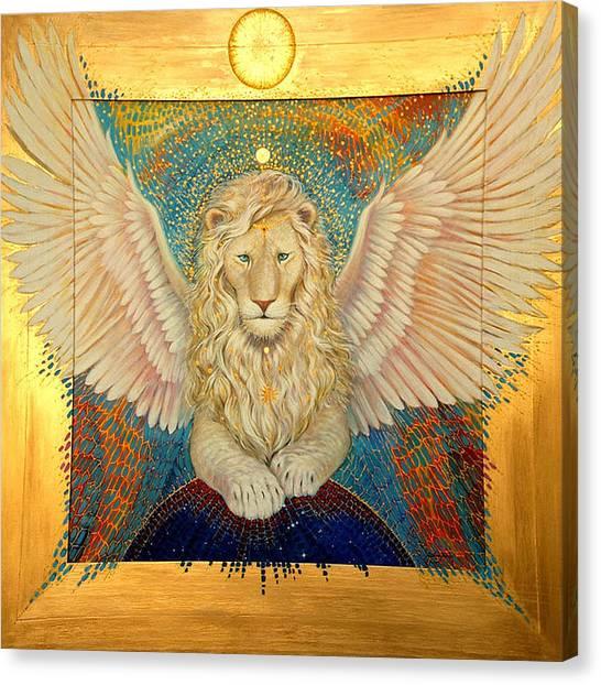 Aslan  Canvas Print by Silvia  Duran