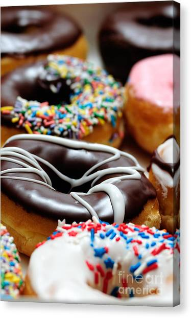 Doughnuts Canvas Print - Assorted Doughnuts Picture by Paul Velgos