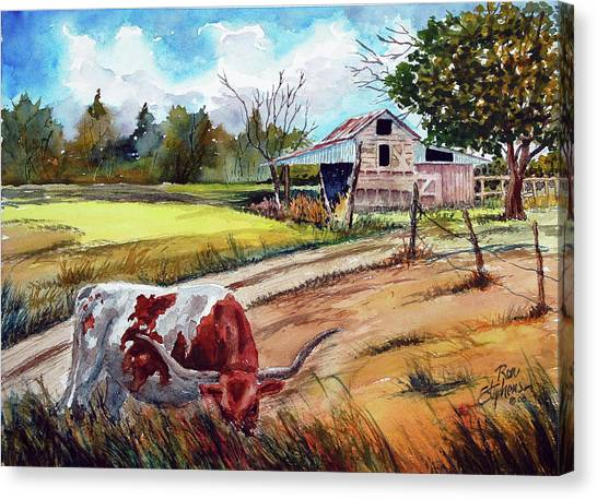 At Home On The Range Canvas Print