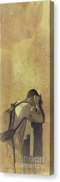 At The Wall Canvas Print by Michael Lyzenga