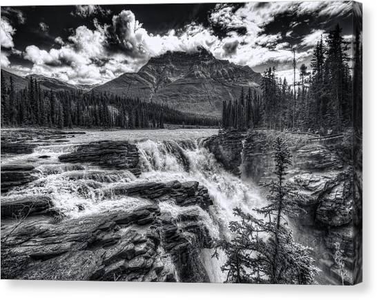 Athabasca Falls Canvas Print - Athabasca Falls by Wayne Sherriff