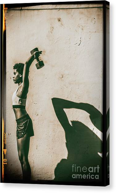 Athletic Woman Canvas Print