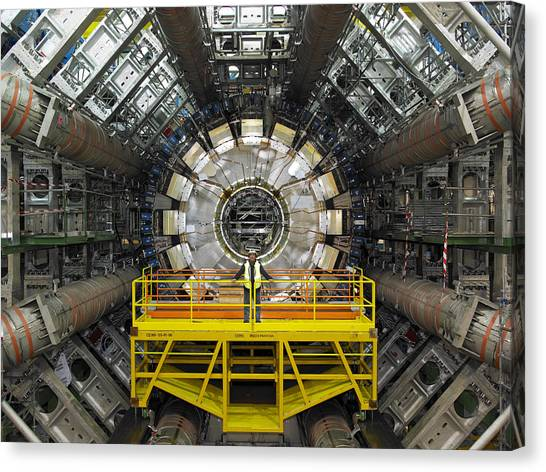 Atlas Detector, Cern Canvas Print by David Parker