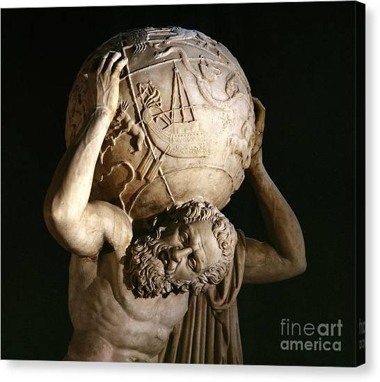 Weights Canvas Print - Atlas by Roman School