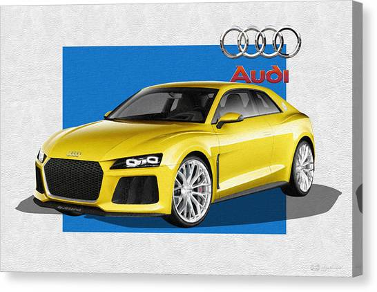Automobiles Canvas Print - Audi Sport Quattro Concept With 3 D Badge  by Serge Averbukh