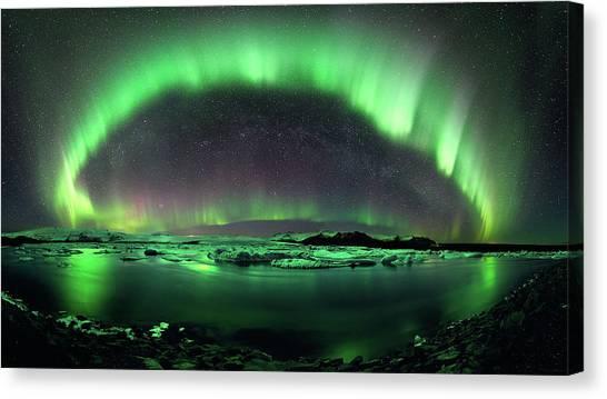 Aurora Borealis Canvas Print - Aurora Borealis by Mariel Mcmeeking