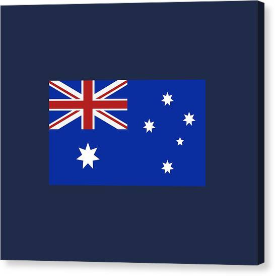 Red Cross Canvas Print - Australia Flag by Marco Livolsi