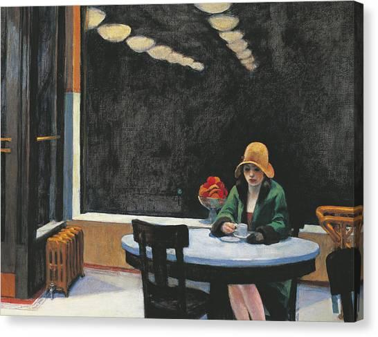 Diners Canvas Print - Automat by Edward Hopper