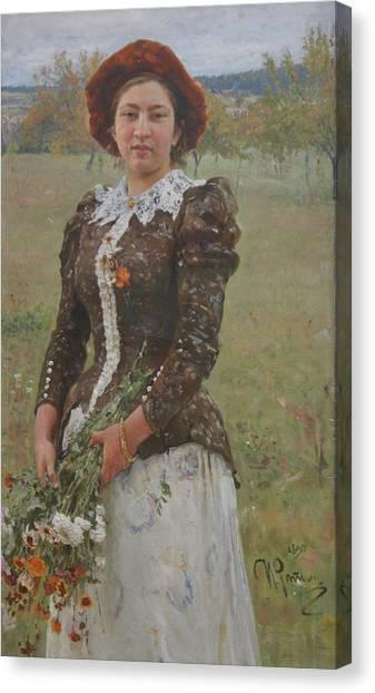 Autumn Bouquet Canvas Print by Ilya Repin