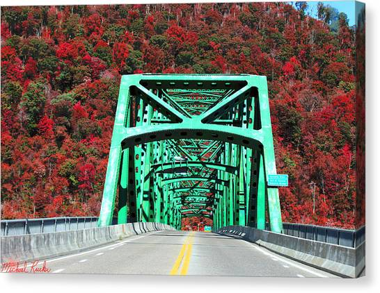 Canvas Print - Autumn Bridge by Michael Rucker