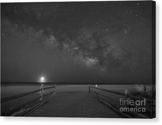 Avalon New Jersey Milky Way Rising  Canvas Print