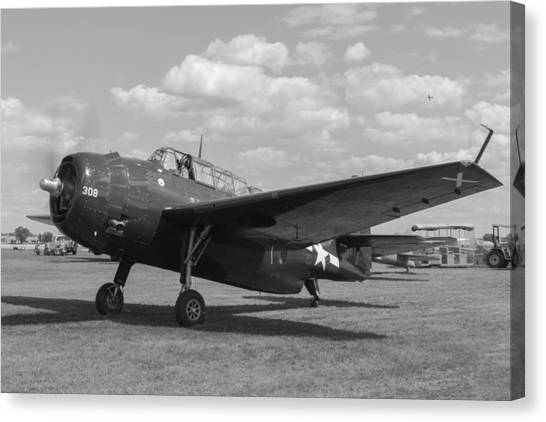 George Bush Canvas Print - Avenger by Aircraft  In Motion