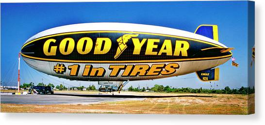 My Goodyear Blimp Ride Canvas Print