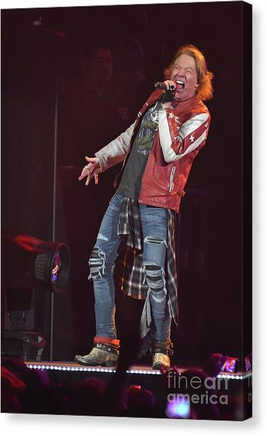 Guns N Roses Canvas Print - Axle Rose Guns N Roses by Concert Photos