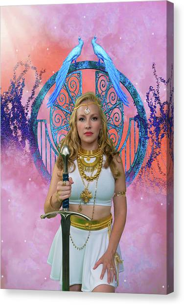 Warrior Goddess Canvas Print - Azna by David Clanton