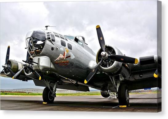 B-17 Bomber Airplane  Canvas Print