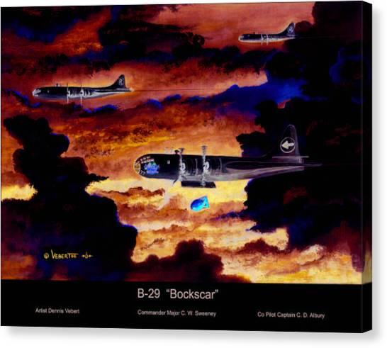 B-29 Bockscar Canvas Print by Dennis Vebert