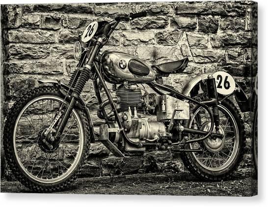 Motocross Canvas Print - B M W  Motocross Bike by Tama66