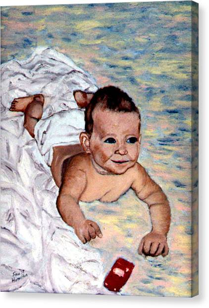 Baby In Heaven Canvas Print by Stan Hamilton