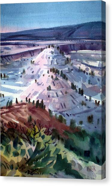 Badlands South Dakota Canvas Print by Donald Maier