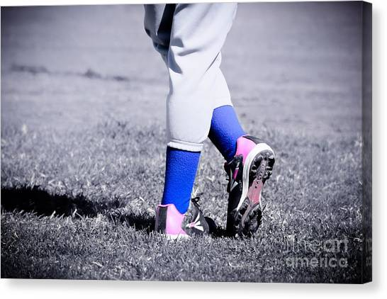 Ball Player Canvas Print