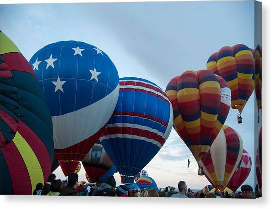 Hot Air Balloons Canvas Print - Balloon Fiesta by Jared Campbell