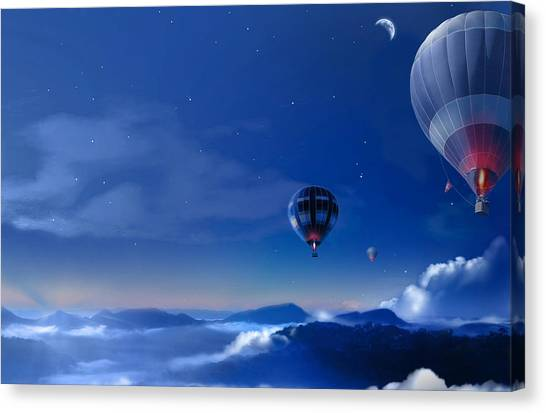 Hot Air Balloons Canvas Print - Balloon by Super Lovely