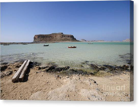 Greek Art Canvas Print - Balos Beach by Smart Aviation