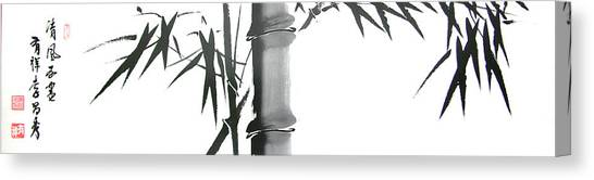 Bamboo Canvas Print by Chang  Lee