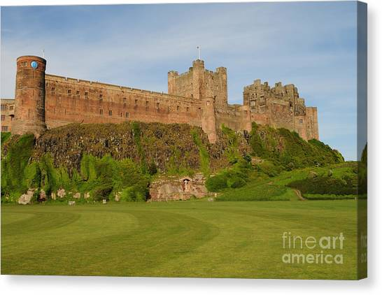 Northumberland Canvas Print - Bamburgh Castle by Smart Aviation