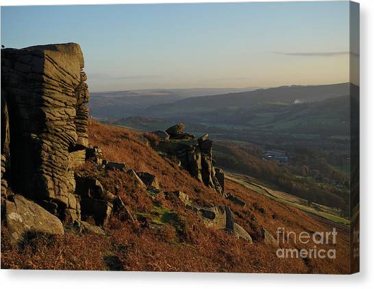 Peak District Canvas Print - Bamford Edge by Smart Aviation