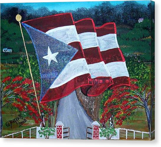 Bandera De Puerto Rico Canvas Print