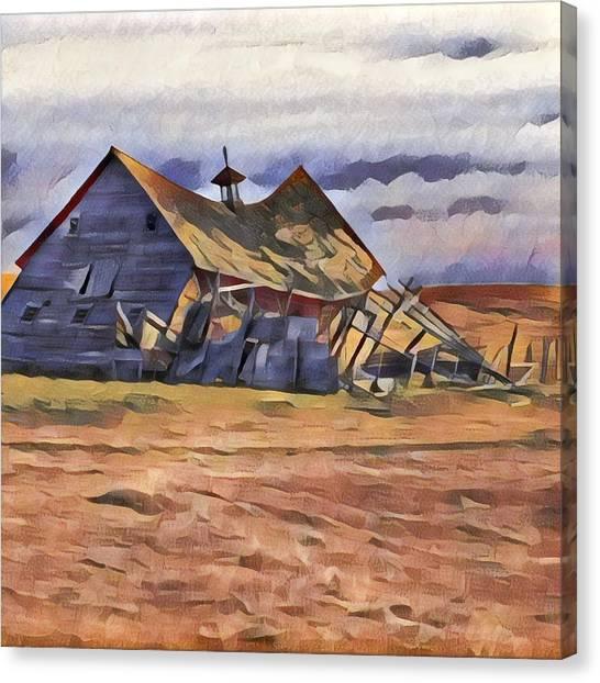 Barn Down Canvas Print