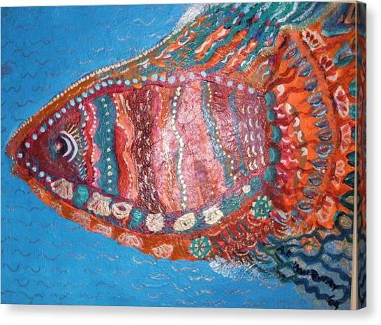 Barracuda Lite Canvas Print by Anne-Elizabeth Whiteway