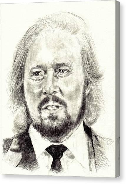 Eric Clapton Canvas Print - Barry Gibb Portrait by Suzann's Art