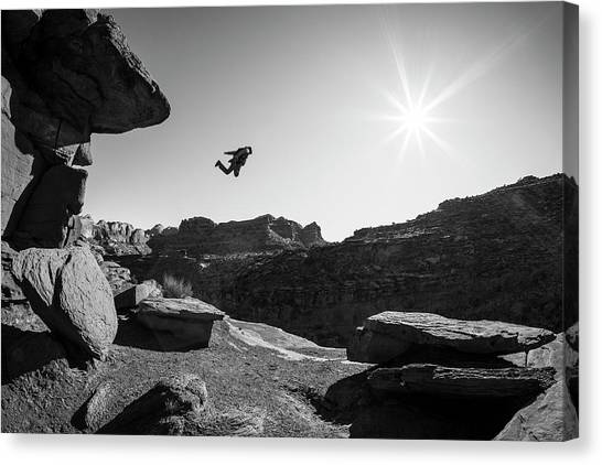 Base Jumper Canvas Print